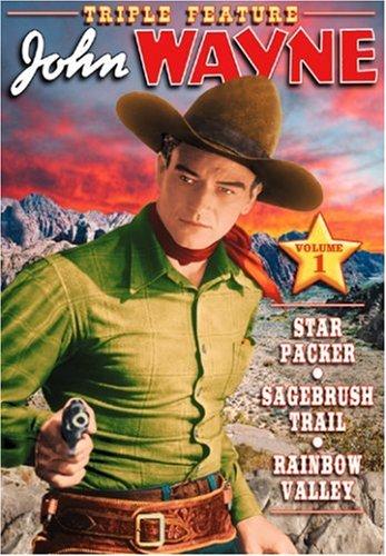 DVD : John Wayne - Star Packer /  Sage Brush Trail /  Rainbow Valley (Black & White)