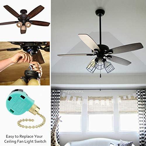 Interruptor de ventilador de techo ZE-268S6 Zing Ear Switch 3 Velocidad 4 Cable Pull Cadena Control ventilador de techo reemplazo interruptor de control de velocidad: Amazon.es: Bricolaje y herramientas