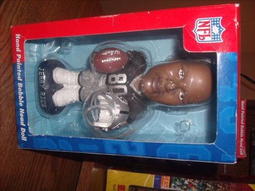 Hand Painted Bobble Head - Jerry Rice Hand Painted Bobble Head Doll Raiders