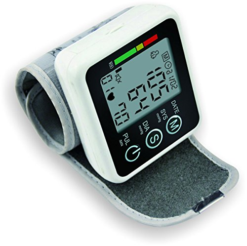 JZK-002 Wrist Automatic Electronic Digital Blood Pressure Monitor Sphygmomanometer Heat Rate Monitor Meter