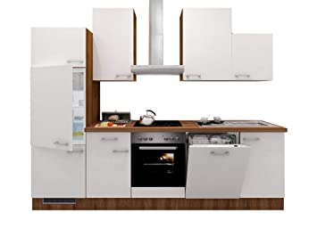Smart Möbel - Bloque de Cocina (280 cm, nácar Brillante, Nogal ...