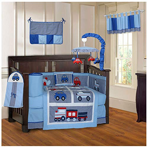 BabyFad Transport 10 Piece Baby Crib Bedding Set