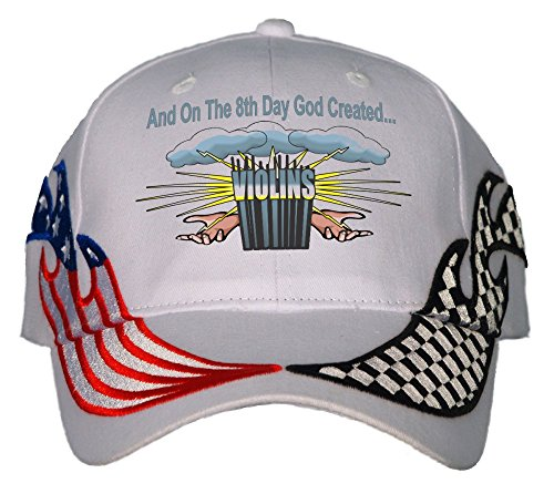 And On The 8th Day God Created Violins USA Flame Racing Hat Cap