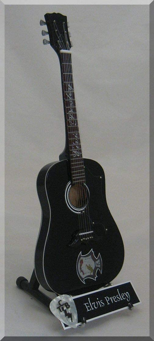 ELVIS PRESLEY Guitarra miniatura con púa de guitarra KENPO