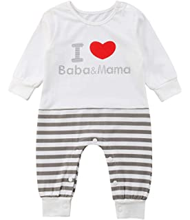 e9840762e Emmababy Newborn Infant Baby Boys White Jumpsuit Girls Clothes Long Sleeve  Romper Sweatsuit Animal Print 0