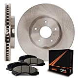 Front Premium OE Blank Rotors and Ceramic Pads Brake Kit KT062641 | Fits: 2010 10 2011 11 2012 12 2013 13 2014 14 2015 15 Ford Edge With 320mm Diameter Front Rotors