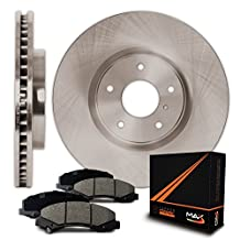 Rear Premium OE Blank Rotors and Ceramic Pads Brake Kit KT020842 | Fits: 2011 11 Ram 1500