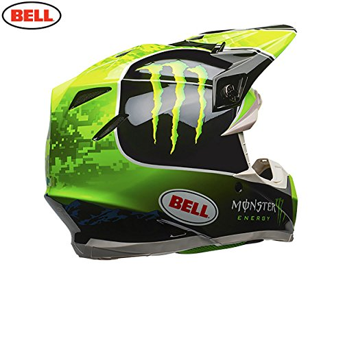 BELL Moto-9 Tomac réplica Casco de Motocross, Black Green, Medium: Amazon.es: Deportes y aire libre