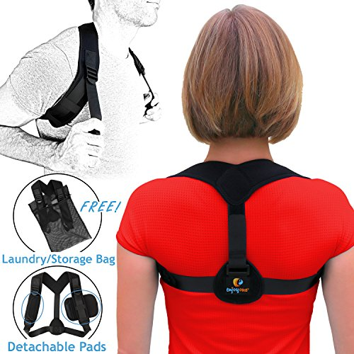 Posture Corrector Shoulder Brace for Women & Men - Wear Over or Under Clothes | Effective, Comfortable & Easy to Use | Customizable Back Support for Slouch, Rounded Shoulders | Pain Relief