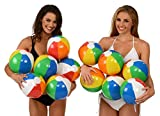 12-Rainbow-Beach-Balls-12-Pack-Inflatable-12pc-Beach-Ball-Pool-Toys