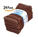 Cotton Bath Towels (Brown, 30 x 56 Inch) Luxury Bath Sheet Perfect for Home, Bathrooms, Pool and Gym Ringspun Cotton by Utopia Towels