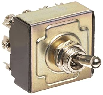 """Morris Products 70305 Toggle Switches, 4 Pole, On/On, 1.44"""" Width, 1.31"""" Length, 0.80"""" Height"""