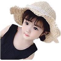 AQ1 Gorro Bebe tranpirable Sombrilla de Verano Sombrero de Pescador Sombrero de Paja