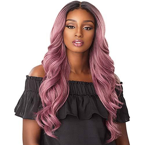 Sensationnel Synthetic Lace Front Wig Empress Edge 3-Way Free Part Lace Wig Jocelyn (T1B/PERIWINKLE)