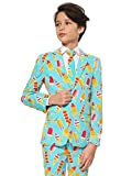 Opposuits Cool Cones Boys' Suit– Ice Cream Outfit Comes with Pants, Jacket and Tie – Matching White Kid's Shirt Available