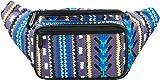 SoJourner Festival Fanny Pack - Aztec, Tribal Style (Gray/Blue)