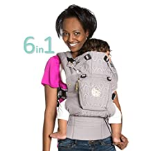SIX-Position, 360° Ergonomic Baby & Child Carrier by LILLEbaby – The COMPLETE Embossed Luxe (Pewter Grey)
