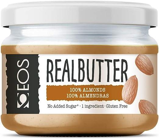 EOS - Crema de Almendra Suave - Mantequilla de Almendra Natural 200 g