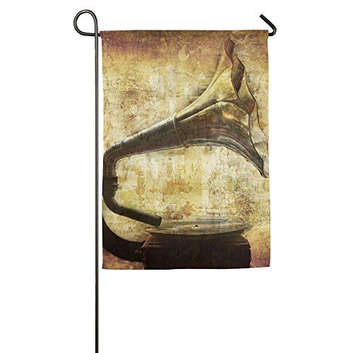 Hexu Dream Of My Grandfathers First Gramophone For Rpm Records More Of My Images Worked Together To Family Garden House Home Demonstration Decorative Flag 1827inch