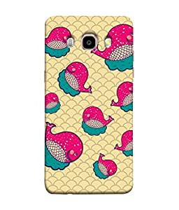 ColorKing Samsung J5 2016 Case Shell Cover - Whales Multi Color