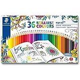 "Staedtler""Johanna Basford"" Ergosoft Triangular Colouring Pencil - Assorted Colours (Pack of 36)"