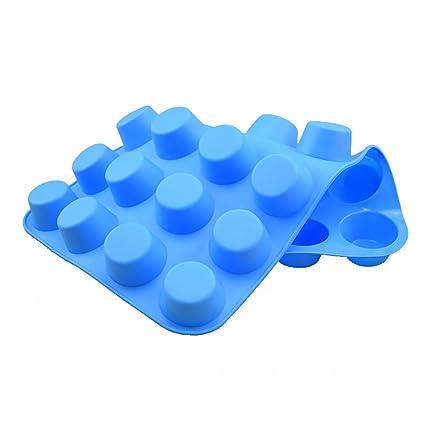 Naisidaier Molde Redondo, Moldes de Torta de Silicona (24 Semi Sphere,) Azul