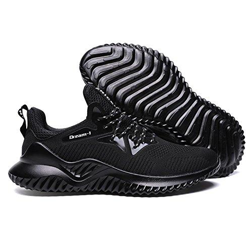Nero da Corsa Sportive 1 Running Sneakers Ginnastica TUOKING Scarpe Traspirante Uomo Scarpe Moda da Leggere E5nwpqOw