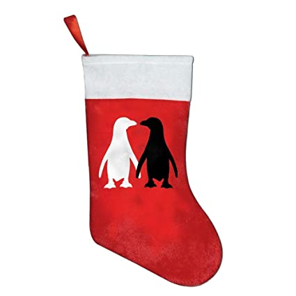 feesoz penguin cute couple christmas holiday stockings