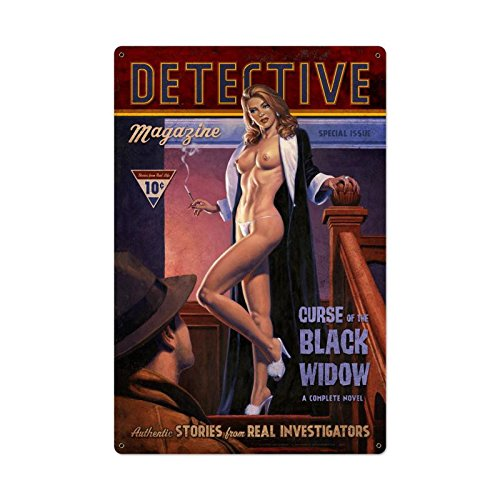 Black Widow Sign (Detective Magazine Black Widow)