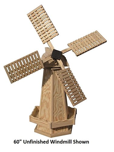 Amish-Made Working Dutch Windmill Yard Decoration 60