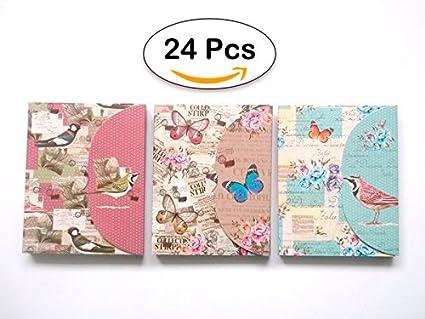 Lote 24 Bloc de Notas con Bolígrafo Butterfly - Detalles, Regalos y Recuerdos para Bodas