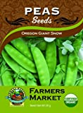 Toland Home Garden Organic Oregon Giant Snow Pea Seeds
