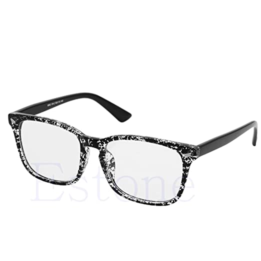6aa4a36c07a Amrka Retro Eyeglass for Men Women Unisex Full Frame Glasses Computer  Spectacles Glasses (Black)