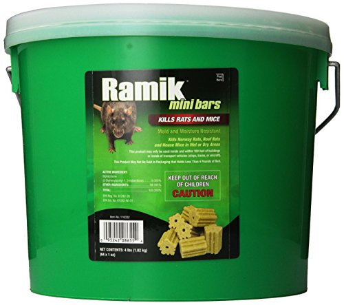 NEOGEN RODENTICIDE 64-Pack Ramik Rat and Mouse Bait Bars Pail, 1-Ounce by NEOGEN RODENTICIDE