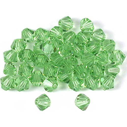 (40 Peridot Bicone Swarovski Crystal Beads 5301 4mm)