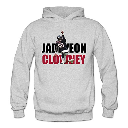 MARC Women's Jadeveon Clowney Hooded Sweatshirt Ash Size L