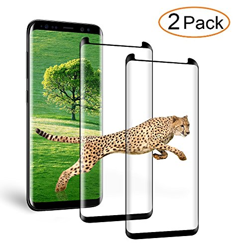 Auideas Samsung Galaxy S8 Plus Screen Protector 3D Curved Tempered [Anti-Bubble][9H Hardness][HD Clear][Anti-Scratch][Case Friendly] Glass Screen Film for Samsung Galaxy S8 Plus Black