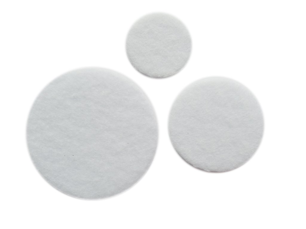 YYCRAFT Pack Of 300 Pieces Thick Stiff White Felt Circle Applique-3 Sizes 4336935239