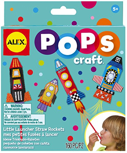 ALEX Toys POPS Craft Little Launcher Straw Rockets