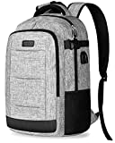 Business Laptop Backpack, Travel Laptop Computer Backpack w/USB Charging Port for Men Women, Water Resistant College Student Daypack, School Bookbag Fit 15.6'' Laptop