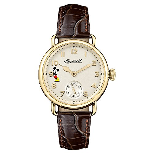Ingersoll Women's Quartz Stainless Steel and Leather Casual Watch, Color:Brown (Model: ID00102)