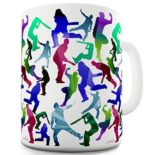 Cricket Pattern Print Sport Novelty Coffee Tea Mug