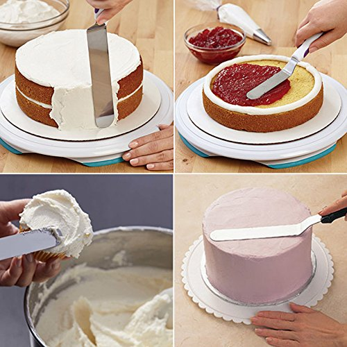 Wall of Dragon 6/8/10 Inches Stainless Steel Icing Spatula - Butter Cake Cream Spatula - Icing Frosting Spreader for Cake Smoother Fondant Pastry Cake Decorating