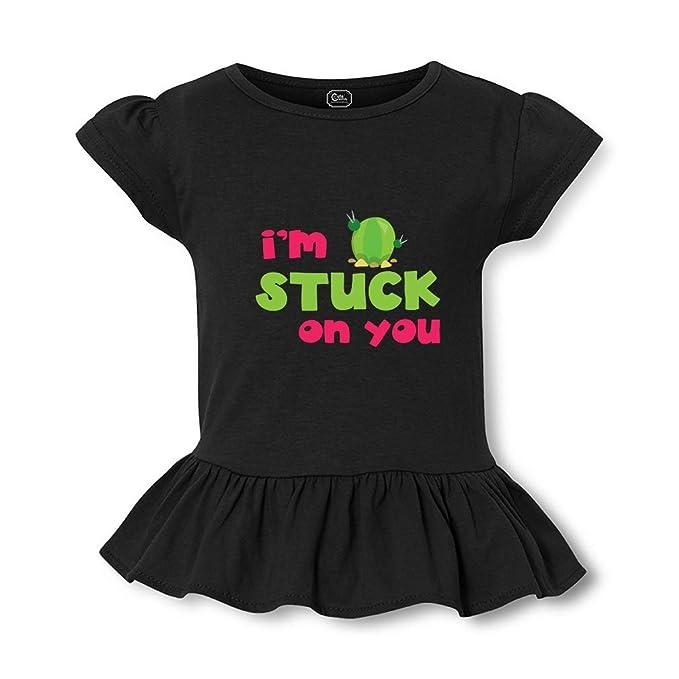 Amazon com: I Am Stuck On You Short Sleeve Toddler Cotton