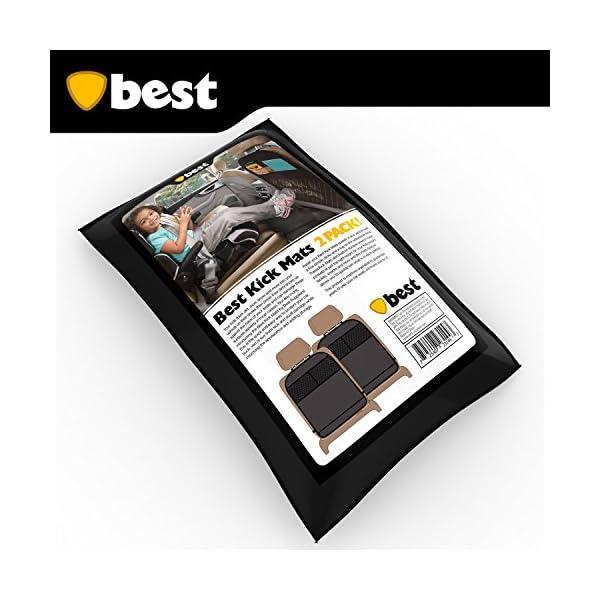 Best Kick Mats With Backseat Organizer Pocket Storage  100 Waterproof  2 Pack