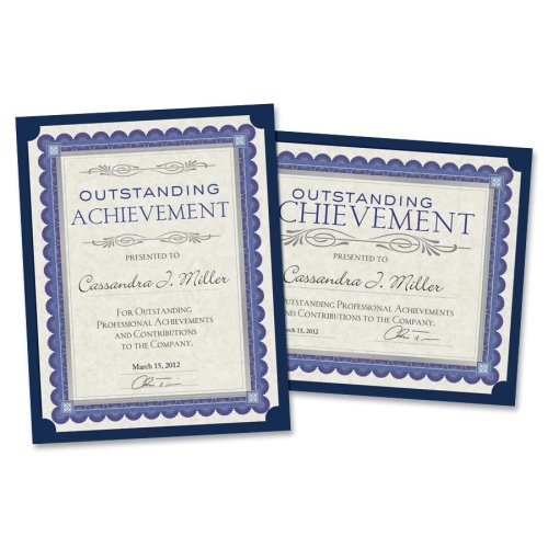 Wholesale CASE of 25 - Southworth Linen Certificate Holders-Certificate Holders,105 lb.,9-1/2''x12'',10/PK,Navy Blue