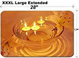 MSD Large Table Mat Non-Slip Natural Rubber Desk Pads Image ID: 11331697 Spa Lit Candles Lilies Flowers Health Care Treatment