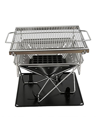 Menschwear Stainless Steel Collapsible Outdoor Portable BBQ Camping Grills 41cm 16″