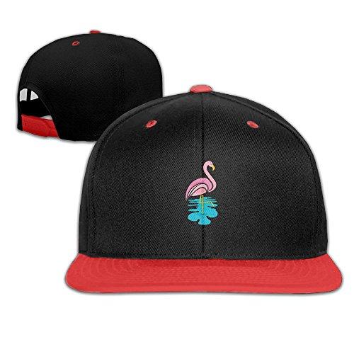 Bkjlafnkl Flamingo Stand Tall Darling Surf Scroll Contrast Adjustable Color, Hip-Hop Baseball Cap, Hat Size.