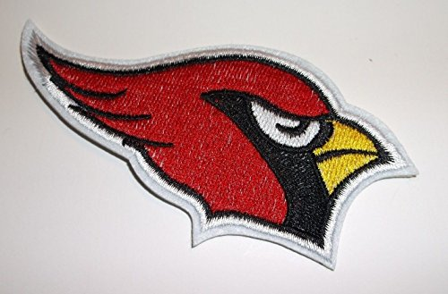 Arizona Cardinals Embroidered Patch~3 7/8'' x 2 1/2''~Iron Sew On~NFL by Braides